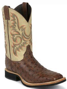 8582 Justin Men's AQHA Q-CREPE Western Boots - Antique Brown