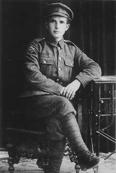 Private David Ben-Gurion, a volunteer in the 38th Battalion of the Jewish Legion of the British Army in 1918. He later went on to be the main founder and the first Prime Minister of Israel.