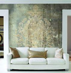 FotoTapete-VLIES-Designtapete-Digitaldruck-Damask-Vintage-Luxus