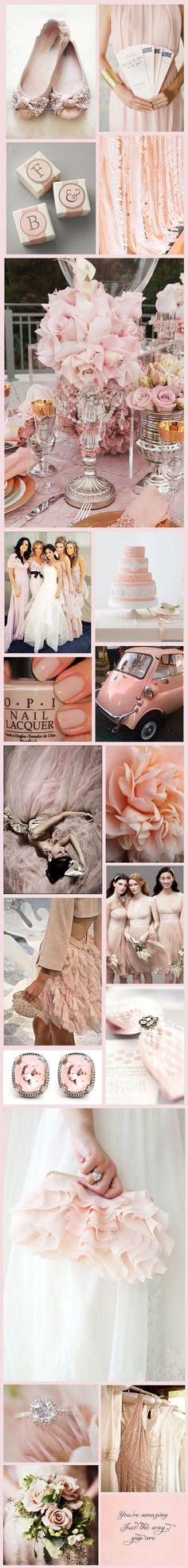 Blush Inspiration Board  Love everything!!  Click www.Signature-Event.com for assistance in creating your event.  Wedding and Event Planner