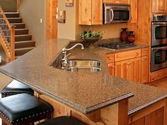breakfast bar between kitchen and dining room. (we'd just have to