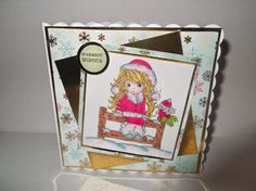 ALANNAH image is by StampArt Design by Kathryne©. Card is designed by Rachel Winter Christmas, Warm, Children, Cover, Sweet, Image, Design, Young Children, Candy