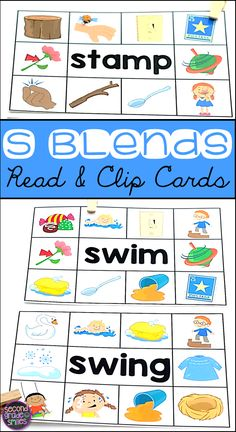 These Beginning Blend Read & Clip Card activities are perfect for my beginning readers! I use them for word work centers, early finishers, and my morning tubs! Students simply read the word on each card and use a clothespin to clip the picture that matche Teaching Second Grade, Teaching Sight Words, Teaching Vocabulary, Teaching Phonics, Teaching Kindergarten, Teaching Resources, Learning Activities, Teaching Ideas, Word Work Games