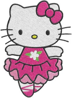 hello kitty embroidery designs | Embroidery Hello kitty ballerina Machine Embroidery Design -- 0561