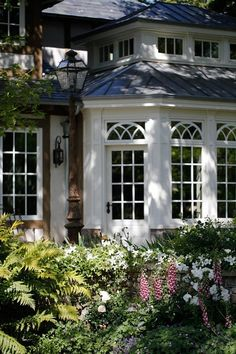 Love these gorgeous windows with the beautiful transoms