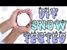 DIY Instant Snow! 3 fake snow tutorials tested! What to do when you're bored over Christmas break!