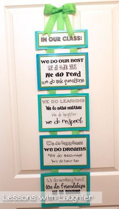 Lessons with Laughter: Classroom Job Board & In Our Class...