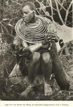 1935 Massai Woman Necklace East Africa Kenya