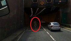 Ирландский дальнобойщик снял призрак днем на оживленной дороге