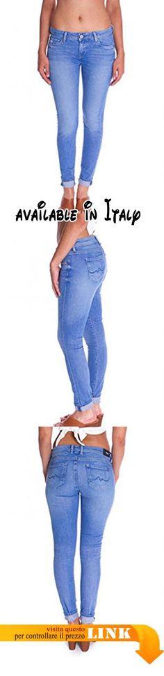 Da Donna Pocket Cut Out Regolare Dritto Fit Donna Pantaloni Sbiaditi Denim Jean Pantaloni