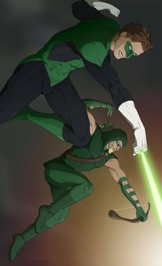 Green Lantern (HAL JORDAN) and Green Arrow (OLIVER QUEEN)