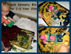 Truck Sensory Bin - Perfect for Ages 1-3