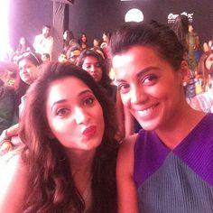 Mugdha Godse and Tamanna Bhatia Mugdha Godse, Bollywood, Crown, Actresses, Indian, Celebrities, Beauty, Black, Jewelry