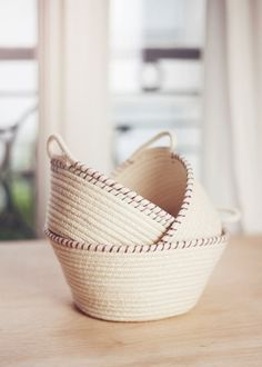 DIY rope baskets or rope bowls