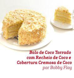 O delicioso sabor do coco aproveitado da melhor maneira nessa receita por Bobby Flay.