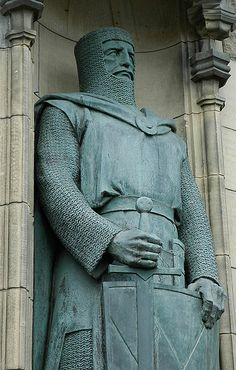 Sir William Wallace died 23 August 1305) was a Scottish knight and landowner who became one of the main leaders during the Wars of Scottish Independence.    Along with Andrew Moray, Wallace defeated an English army at the Battle of Stirling Bridge in 1297, and was Guardian of Scotland, serving until his defeat at the Battle of Falkirk. In 1305, Wallace was captured in Robroyston near Glasgow and handed over to King Edward I.