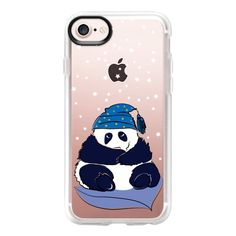 Sleeping Panda - iPhone 7 Case And Cover ($40) ❤ liked on Polyvore featuring accessories, tech accessories, iphone case, clear iphone case, iphone cases, apple iphone case and iphone cover case