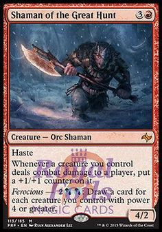 Light Play Stronghold U MTG X4: Mogg Maniac FREE US SHIPPING!