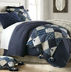 Winter Cottage Patchwork Bedding Collection | Nautical Luxuries