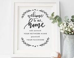 Super Ideas Diy Home Decor Bedroom Chic Guest Rooms Guest Room Decor, Diy Home Decor Bedroom, Bedroom Ideas, Bedroom Crafts, Guest Room Baskets, Guest Basket, Wifi Password Printable, Do It Yourself Home, Guest Bedrooms