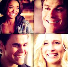 Look at my babies smilin' at their future spouses , I'm seeing a double wedding next season #Team Bamon and Steroline