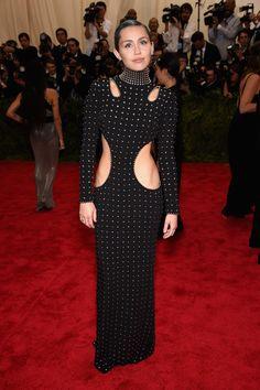 Miley Cyrus in Alexander Wang   - HarpersBAZAAR.com For once she looks amazing !