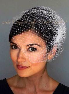 d89559b96bb11  15 Amazon.com  Zoey  IVORY Birdcage Veil Bridal BirdCage Net Veil New  Versatile 21  Everything Else