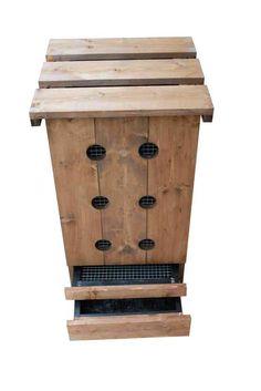 Compostiera domestica in legno da giardino PACCIAMEX - FARMAKER
