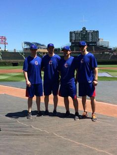 Brookbank, Bickell, Sharp and Handzus at the Cubs game 6/6/14