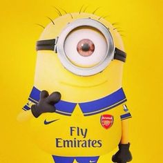 arsenal minion :D Arsenal Football, Arsenal Fc, Cristiano Ronaldo, European Football, Guys And Girls, Minions, Animation, Fictional Characters, Funny Soccer
