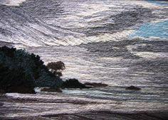 Cielo en Grises, Marta Alarcón, Collage en lana