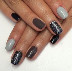 Perfect fall nails / gray nails / square nails