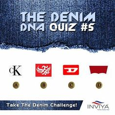 We are back with The Denim DNA Challenge! Guess these famous denim logos? Freedom Logo, New Freedom, Fashion Quiz, Dna, Fiber, Challenges, Logos, Logo, Gout