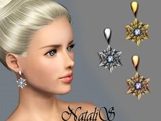 NataliS_TS3 Shining snowflake earrings FA-FE