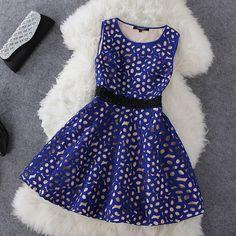 Fashion hollow pearl dress WQ724EI