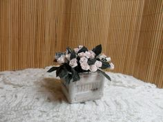 Pot with roses-miniature