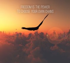 Freedom is the power to choose your own chains.