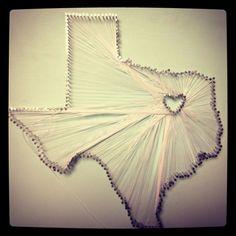 #string art #texas love