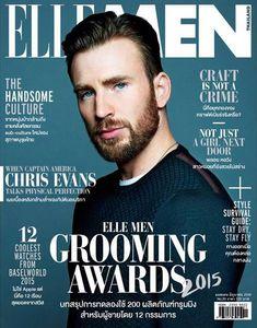 Chris Evans Wears Gucci for Elle Men Thailand June 2015 Cover