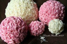 Crepe paper rose balls by Dani at Studio Calico