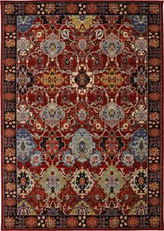 RugStudio presents Karastan Bravado Mahir Red Machine Woven, Good Quality Area Rug