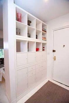 Amazing Ideas To Use Shelves For Dividing Interior Home Spaces