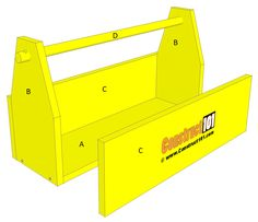 tool tote plans step by step diy project Woodworking Electric Tools, Woodworking Hand Saws, Woodworking Tools For Beginners, Woodworking Power Tools, Woodworking As A Hobby, Woodworking Plans, Woodworking Projects, Workbench Plans, Woodworking Machinery