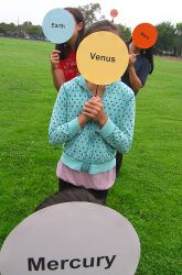 Set Up a Solar System of Kids  distances in steps!