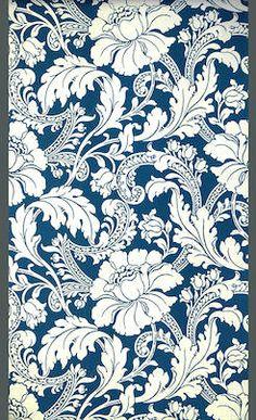 "Wallpaper pattern ""Staircase"" - England, 1893. Demask Wallpaper, Rococo, Arabesque Pattern, Surface Pattern Design, Beautiful Patterns, Pattern Wallpaper, Print Patterns, Line Art, Prints"