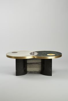 Lara Bohinc and Lapicida Lunar Collection Coffee Table by #Lapicida featured at #Decorex International 2015. Lapicida.com #Decorex_Int