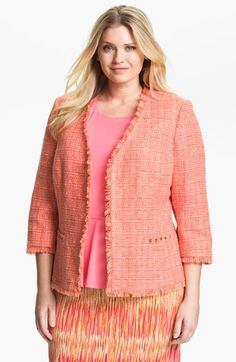 Vince Camuto Tweed Jacket (Plus) | Nordstrom