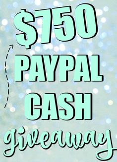 $750 Paypal Cash Giveaway - What the Fork Food Blog