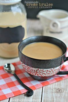Homemade Creme Brulee Coffee Creamer is so easy to make. This recipe is easy to follow, you may never buy coffee creamer again!