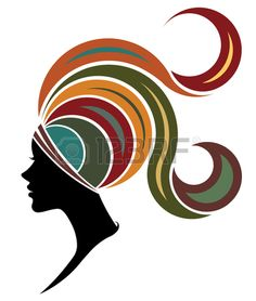 Stock Photo illustration of African women silhouette fashion models on white background Fashion Silhouette, Woman Silhouette, African American Art, African Women, African Art Paintings, Africa Art, African Masks, Black Women Art, Face Art